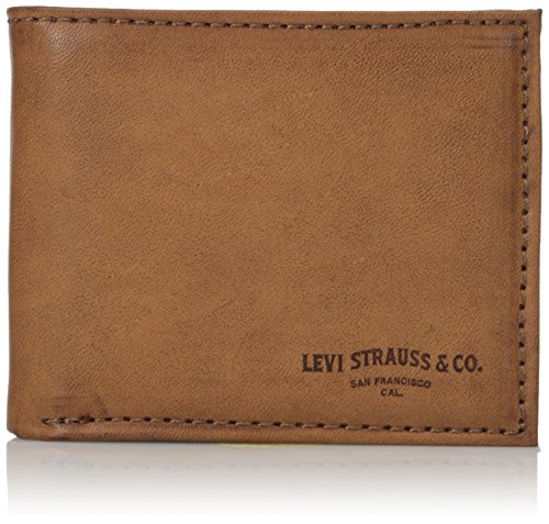 Levis Mens Rfid Blocking Leather Extra Capacity Slimfold Wallet