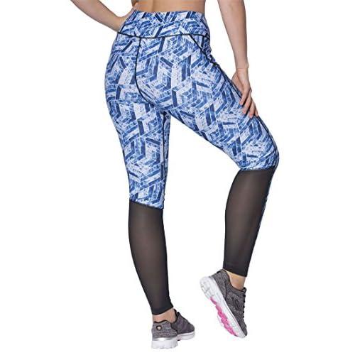 5828f25568e81 Fullbeauty Sport Women s Plus Size Mesh Panel Leggings Midnight Berry