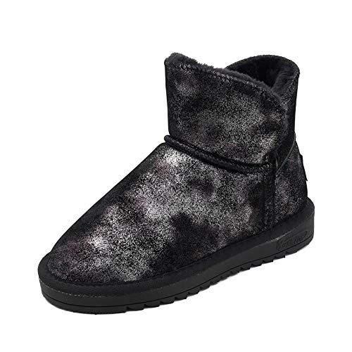 AGECC Schuhe Winter Schneefeld Stiefel Schuh Weibliche Einfache Klassische Flache Unterseite Schuh Stiefel Stiefel Verdickt Pelzige Warme Baumwolle Stiefel Student Baumwolle Schuhe cdfb01