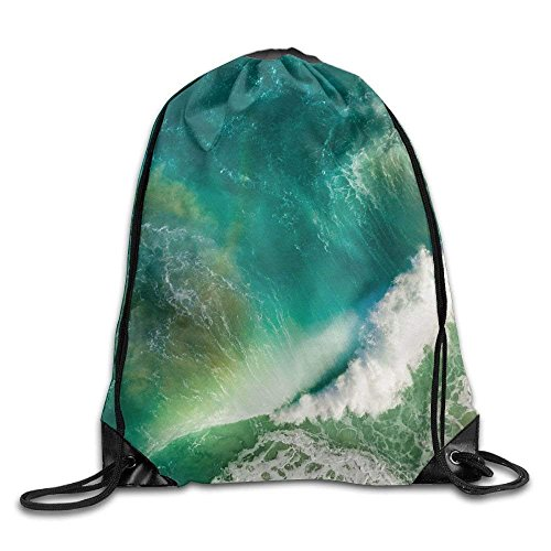 Beautiful Ocean Gym Drawstring Backpack Unisex Portable Sack Bags (Cover Arcteryx Pack)