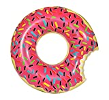 Inflatables Giant Donut Pool Float - Pump Included (Strawberry)