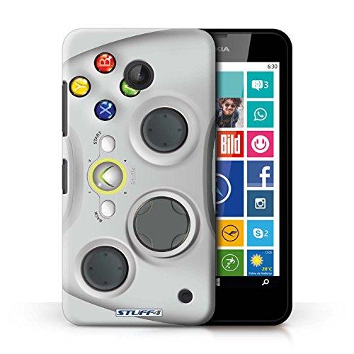 Kobalt® Imprimé Etui / Coque pour Nokia Lumia 630 / Blanc Xbox 360 conception / Série Console (jeux vidéo)