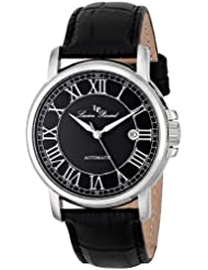 Lucien Piccard Mens LP-12393-01 Rioja Stainless Steel Automatic Watch with Black Leather Band