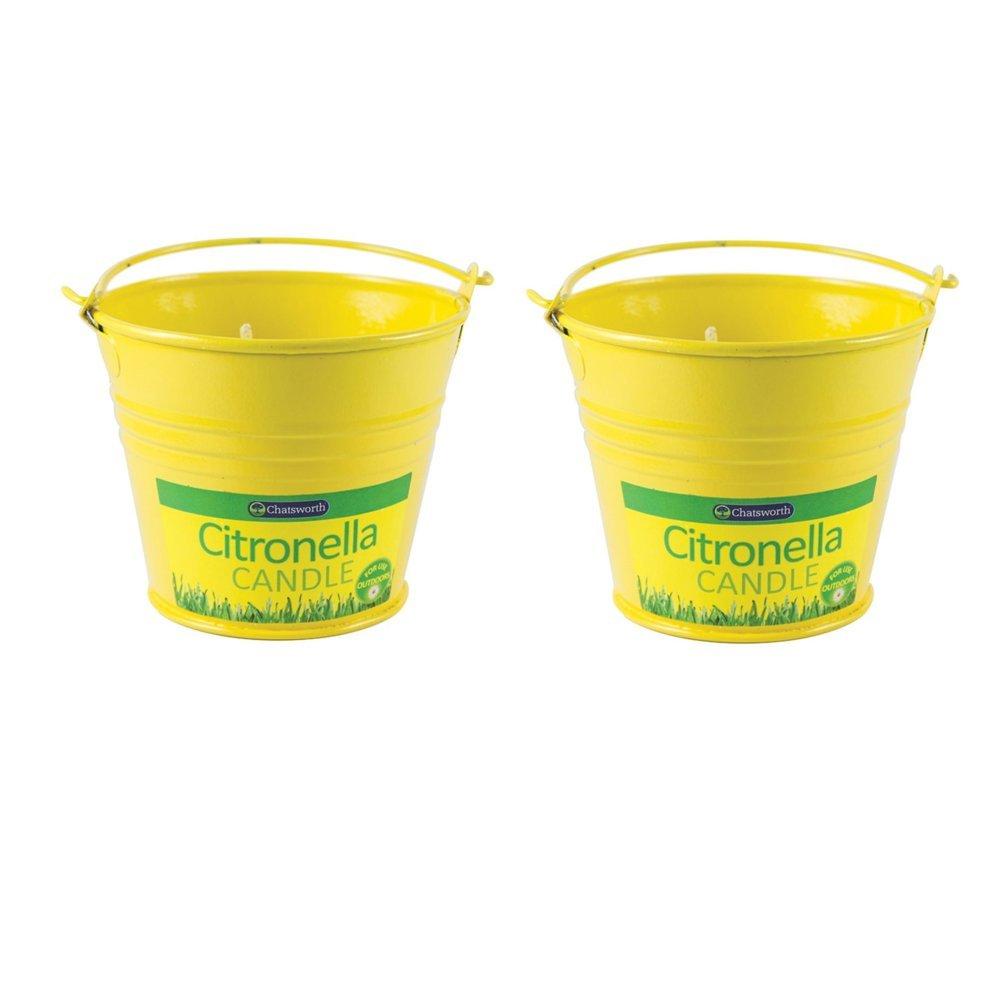 Chatsworth Velas de citronela en Cubo de Metal, 2 Unidades: Amazon ...