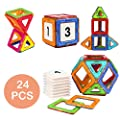 Magnetic Blocks Toys Educational Building Tiles Blocks Stack Toys Set by Coodoo-24pcs