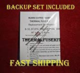 Bunn Coffee Maker Repair Repair Your Bunn B-10, Grx, Bxb, Btx, Grx, BXW Coffee Maker w/New Thermal Fuse Kit; Is Your Water Not Heating?? Read Add!! 2 Sets!