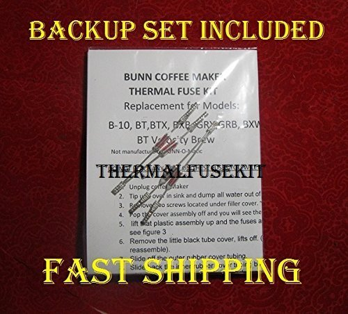 Repair Your Bunn B-10, Grx, Bxb, Btx, Grx, BXW Coffee Maker w/New Thermal Fuse Kit; Is Your Water Not Heating?? Read Add!! 2 Sets!