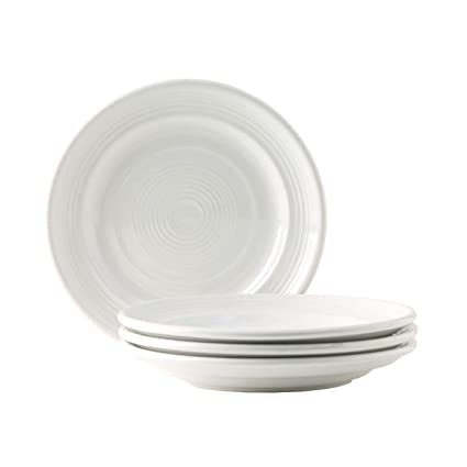 Set of 4 7 1//2 White; Heavy Duty; Chip Resistant; Lead and Cadmium Free; Freezer to Oven Safe up to 500F 7 1//2 THCWA074-4B Tuxton Home Concentrix Salad Plate