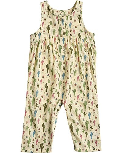 Wrangler Infant-Girls' Cactus Print Sleeveless Romper Natural - Mon Cactus