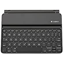 Logitech Ultra-Thin Keyboard Cover for iPad Mini, Black (920-005021)