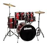 ddrum D120B BR D Series 5 Piece Drum Set Complete, Red