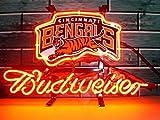 Desung Brand New 14''x10'' B udweiser Sports Team C-BengalsNeon Sign (Various Sizes) Beer Bar Pub Man Cave Glass Neon Light Lamp BW21