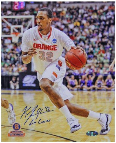 NCAA Syracuse Orange Kris Joseph White Jersey Drive Vertical Photograph with
