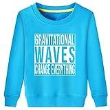 Little Boys Girls Gravitational Waves Change Everything Science Sweatshirt (Blue,M)