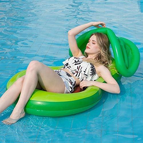 Zcaukya Kids Avocado Pool FloatieCanopy 46.8x30.3 Inflatable Avocado Pool FloatShade Water Fun Large Blow Up Summer Beach Swimming Floaty Party Lounge Raft for Kids