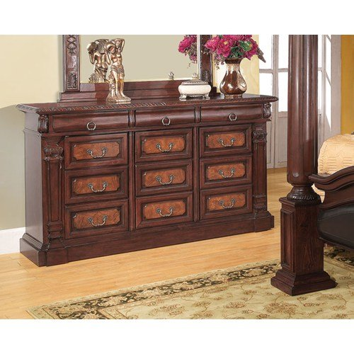 Cherry French Country Dresser - Coaster Home Furnishings 202203 Traditional Dresser, Cherry