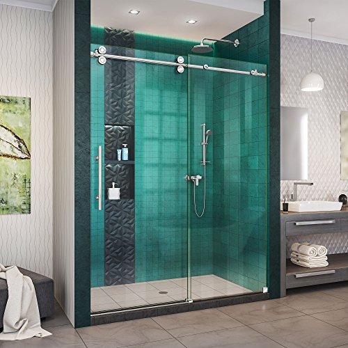 DreamLine SHDR-61547620-08 Fully Frameless Sliding Shower Door, 50-54