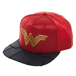 Wonder Woman Reflective Logo Costume Adult Snapback Cap