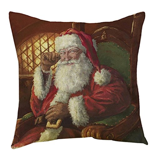[Pillowcase, Bestpriceam Santa Claus Printing Dyeing Sofa Bed Home Decor Pillow Case Cushion Cover (Style_3)] (The Tick Costume Ideas)