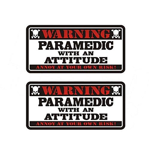 Set Decal Warning - OKSLO Paramedic Warning Decal SET Rescue First Responder Vinyl Window Sticker
