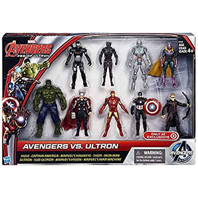 Marvel Avengers Age of Ultron Avengers vs Ultron Action Figure 9-Pack: Toys & Games