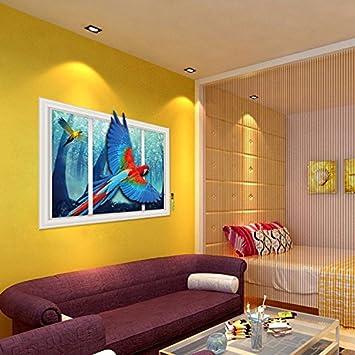 Papagei An Der Glaswand Oberfläche Das Wohnzimmer Sofa Studie Hyun Zu  Entfernen Wände Mit