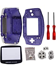 Timorn Full Parts Replacement Housing gbA Shell Pack for Gameboy Advance Shell(Transparent Purple)
