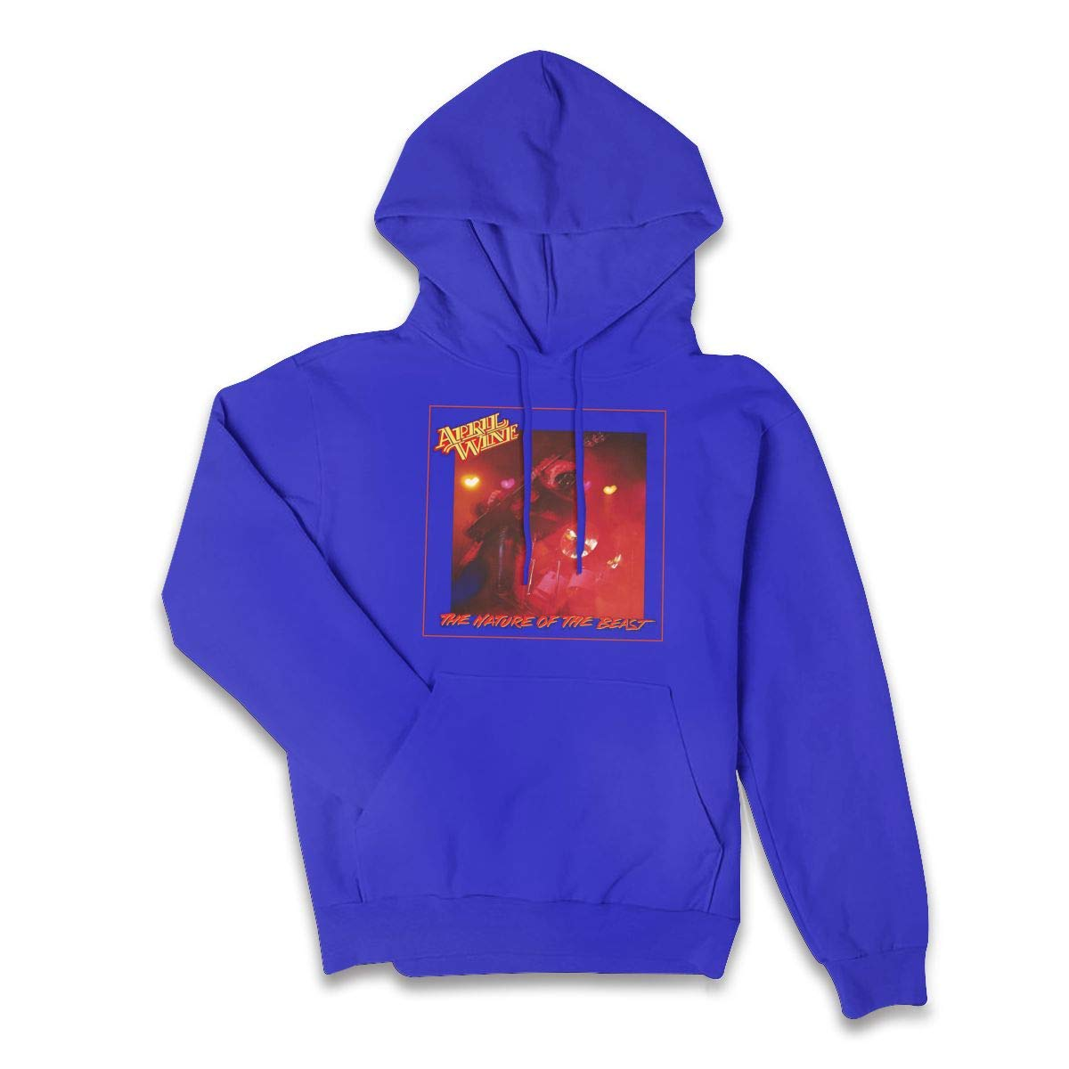 Erman Color Name Retro April Wine Music Band Cover Pullover Hooded Shirts With Pocket X