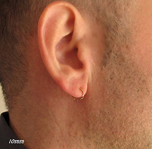 Amazon.com  Gold Earrings - Hoops for men - 14K Gold Filled - Fine ... 881346bf9532