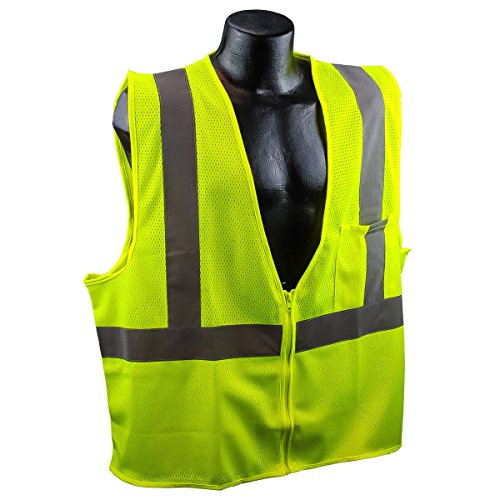Full Source US2LM19 Class 2 Mesh Safety Vest - Yellow/Lime - XL