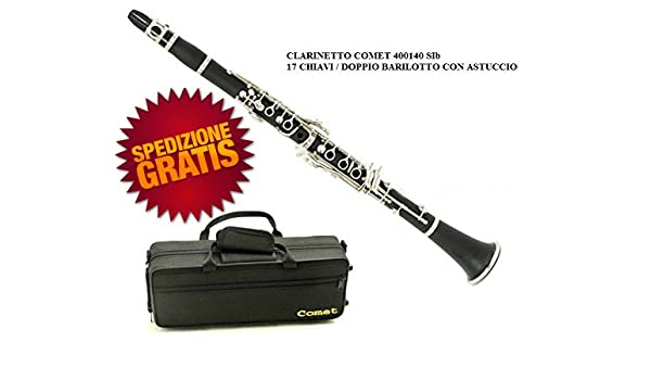 Clarinete Comet 400140 Sib 17 llaves doble barril fermentador con estuche y garantía: Amazon.es: Instrumentos musicales