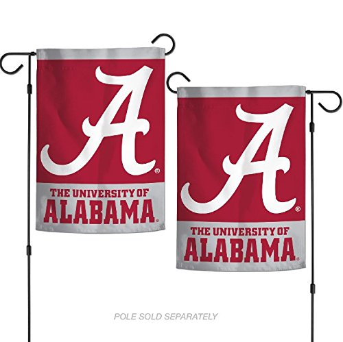 "WinCraft NCAA Alabama Crimson Tide 12.5"" x 18"" Inch 2-Sided"