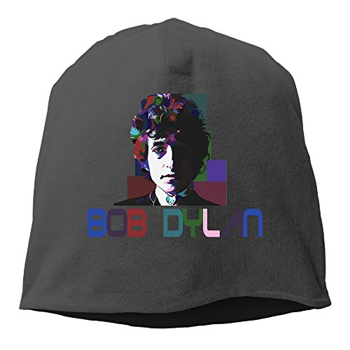 YUVIA Bob Dylan Men's&Women's Patch Beanie TravellingBlack Caps For Autumn And Winter