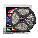 xtf2015 Led Strip Lights LED Lighting 5Meter 16.4ft Waterproof Flexible Color Changing RGB SMD5050 300 LEDs Light Strip