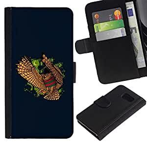 NEECELL GIFT forCITY // Billetera de cuero Caso Cubierta de protección Carcasa / Leather Wallet Case for Sony Xperia Z3 Compact // DIVERTIDO NIGHT OWL