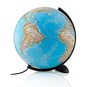 National Geographic - Globo Classic, sin pie, 30 cm, color azul (Tecnodidattica 97033)