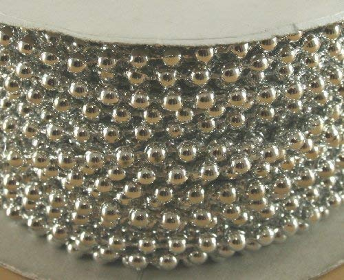 4mm Faux Pearl Plastic Beads on a String Craft Roll Silver by DPC by DPC]()