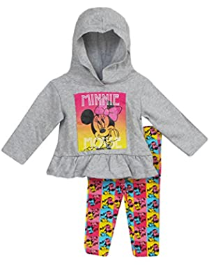 Infant Girls Minnie Mouse 2 Piece Hoodie Leggings Set