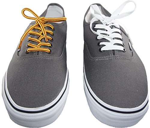 Shoeslulu 35-46 Premium Round Rugged Hiking Boot Sneakers Shoelaces True White / Bitter Chocolate gxeWhvI
