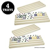 Set of Four Plastic Domino Tra
