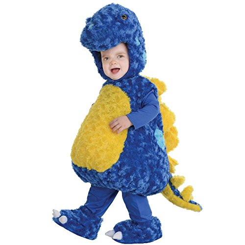 Underwraps Baby's Stegosaurus Belly, Blue/Yellow, Large - Stegosaurus Costume