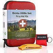 GoLab Erste Hilfe Set Outdoor – Survival Kit. Sport & Reise First Aid Kit mit Notfallbeatmungsmaske + Signalpfeife für…