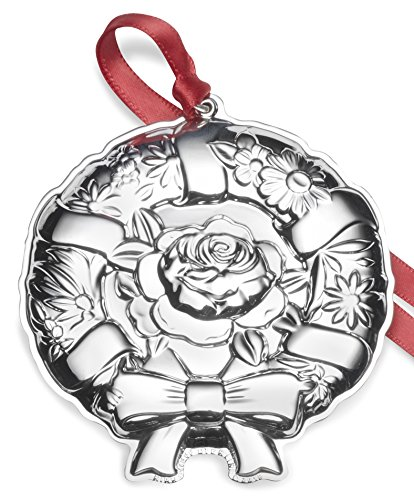 Kirk Stieff Stieff Wreath Sterling Christmas Holiday Ornament, 10th Edition, Silver - Kirk Stieff Sterling Silver