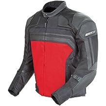 Joe Rocket 1322-3104 Reactor 3 Men's Mesh and Leather Motorcycle Jacket (Black/Red, Large)