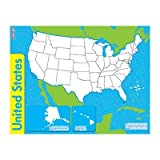 SCBT-27301-15 - THE UNITED STATES WIPE OFF MAP pack of 15