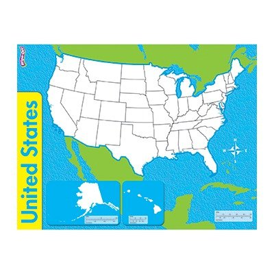 SCBT-27301-15 - THE UNITED STATES WIPE OFF MAP pack of 15 by Shoplet Best
