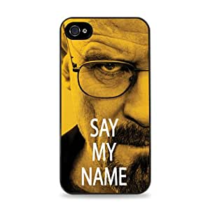 Walter White Say My Name Black 2-in-1 Protective Case with Silicone Insert for Apple iPhone 4 / 4S