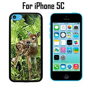 Fawn Animal Custom Case/ Cover/Skin *NEW* Case for Apple iPhone 5C - Black - Plastic Case (Ships from CA) Custom Protective Case , Design Case-ATT Verizon T-mobile Sprint ,Friendly Packaging - Slim Case