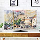 Best As Seen On TV Headphones For Tvs - LCD TV dust Cover Strong Durability,Urban,Watercolor Painting of Review
