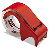 Scotch DP300RD Compact and Quick Loading Dispenser for Box Sealing Tape, 3'' Core, Plastic, Red